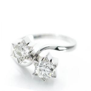 Кольцо с бриллиантами Звезды