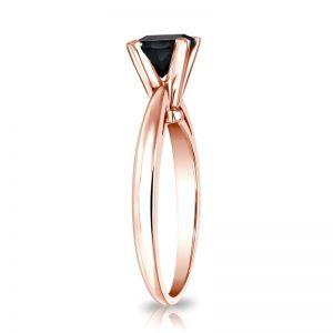 Кольцо с квадратным черным бриллиантом