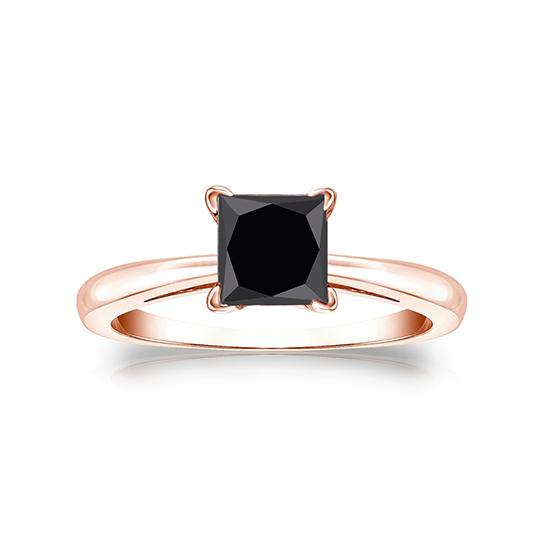 Кольцо с квадратным черным бриллиантом, Больше Изображение 1