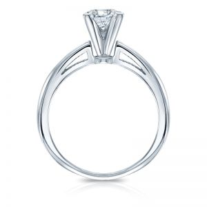Кольцо с квадратным белым бриллиантом Принцесса