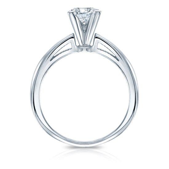 Кольцо с квадратным белым бриллиантом Принцесса,  Больше Изображение 2