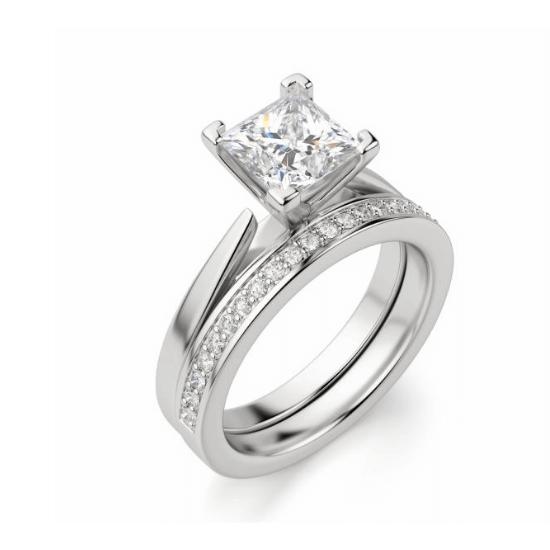 Кольцо с квадратным бриллиантом,  Больше Изображение 5