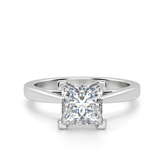 Кольцо с квадратным бриллиантом, Больше Изображение 1