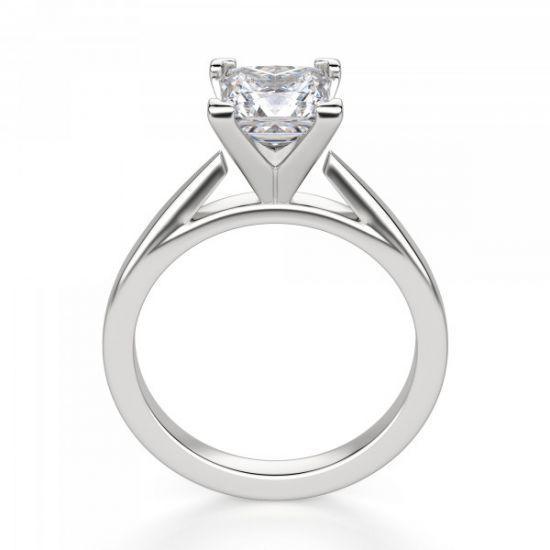 Кольцо с квадратным бриллиантом,  Больше Изображение 3