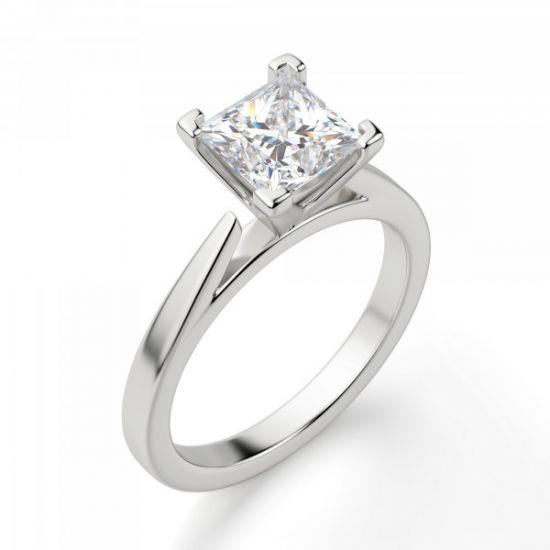 Кольцо с квадратным бриллиантом,  Больше Изображение 4