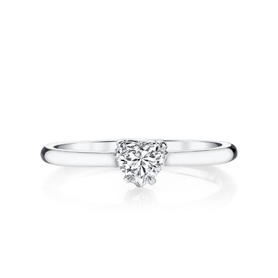 Кольцо с бриллиантом огранки Сердце, Больше Изображение 1