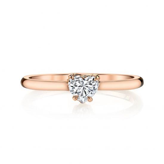 Кольцо с бриллиантом огранки Сердце,  Больше Изображение 2