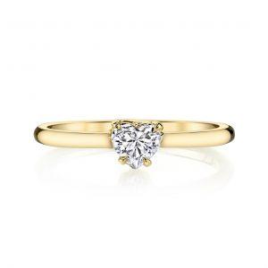 Кольцо с бриллиантом огранки Сердце