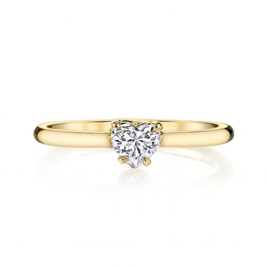 Кольцо с бриллиантом огранки Сердце,  Больше Изображение 3