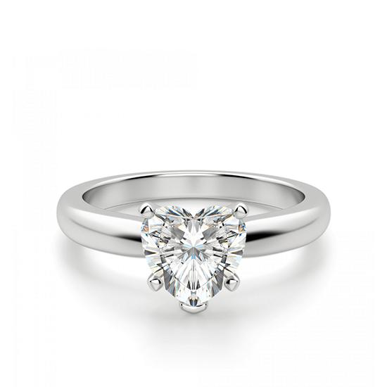 Кольцо бриллиантом в форме сердца, Больше Изображение 1