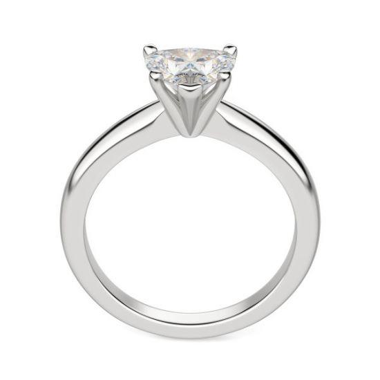 Кольцо бриллиантом в форме сердца,  Больше Изображение 2