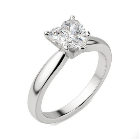 Кольцо бриллиантом в форме сердца,  Больше Изображение 3