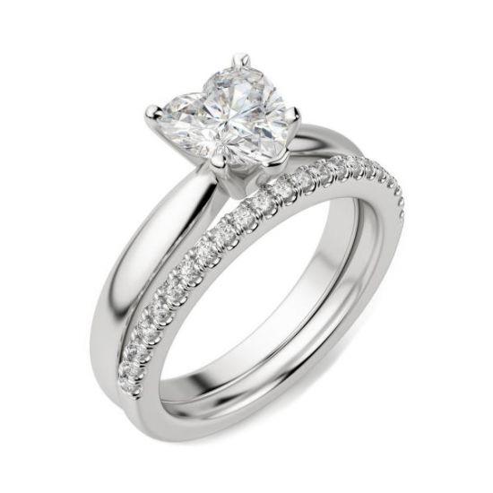 Кольцо бриллиантом в форме сердца,  Больше Изображение 4