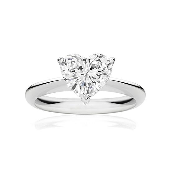 Кольцо с бриллиантом в форме сердца, Больше Изображение 1