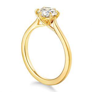 Кольцо с круглым бриллиантом