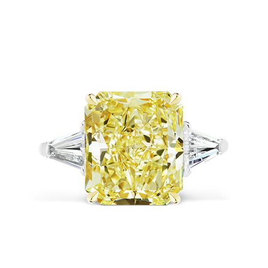 Кольцо с желтым бриллиантом и багетами, Больше Изображение 1