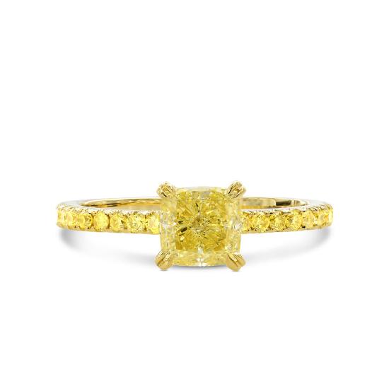Кольцо с желтыми бриллиантами, Больше Изображение 1