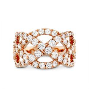 Плетеное кольцо с бриллиантами