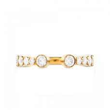 Разомкнутое кольцо с бриллиантами