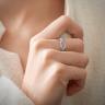 Плетеное кольцо с бриллиантами и сапфирами, Изображение 2
