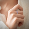 Плетеное кольцо с бриллиантами и розовыми сапфирами, Изображение 2