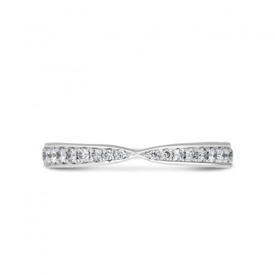 Кольцо дорожка с бриллиантами «бантик»,  Больше Изображение 6