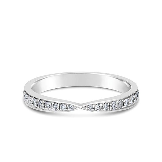 Кольцо дорожка с бриллиантами «бантик», Больше Изображение 1