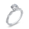 Винтажное кольцо с круглым белым бриллиантом, Изображение 2