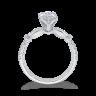 Винтажное кольцо с круглым белым бриллиантом, Изображение 4