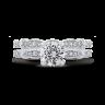 Винтажное кольцо с круглым белым бриллиантом, Изображение 5