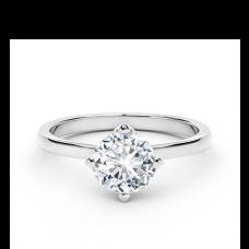 Кольцо дизайнерское с круглым белым бриллиантом