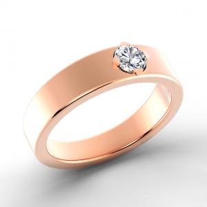 Кольцо обручальное с 1 бриллиантом