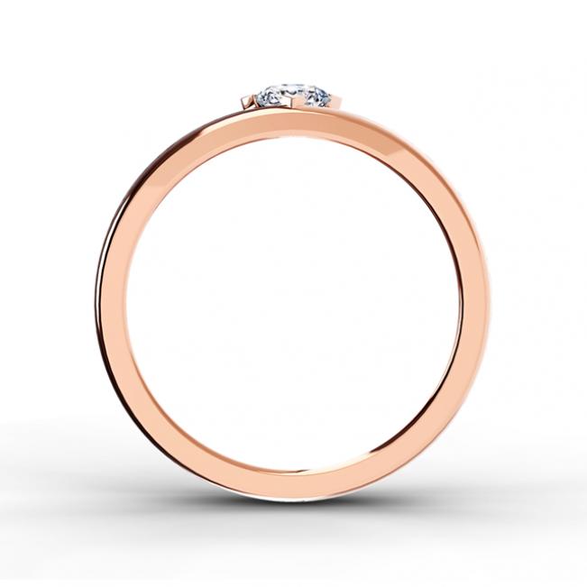 Кольцо обручальное с 1 бриллиантом - Фото 1