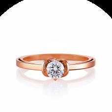 Кольцо помолвочное с 1 маленьким бриллиантом