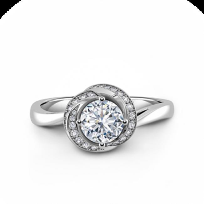 Дизайнерское кольцо с бриллиантом в бутоне