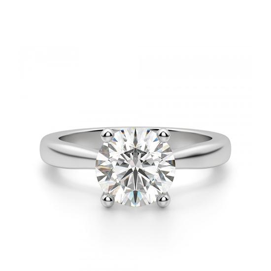 Кольцо помолвочное с круглым бриллиантом, Больше Изображение 1