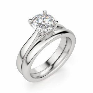 Кольцо помолвочное с круглым бриллиантом