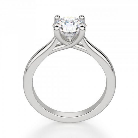 Кольцо помолвочное с круглым бриллиантом,  Больше Изображение 2