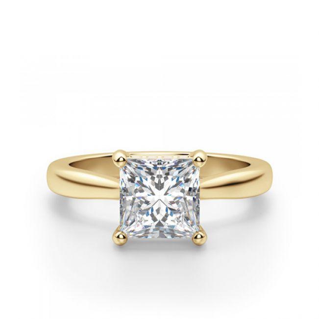 Кольцо из золота с бриллиантом Принцесса
