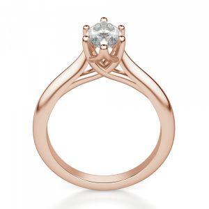 Кольцо солитер с бриллиантом Маркиз