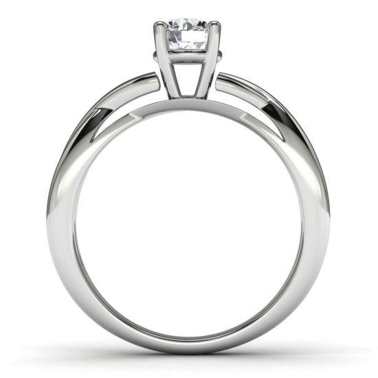 Кольцо с перекрещенное солитер с бриллиантом,  Больше Изображение 3