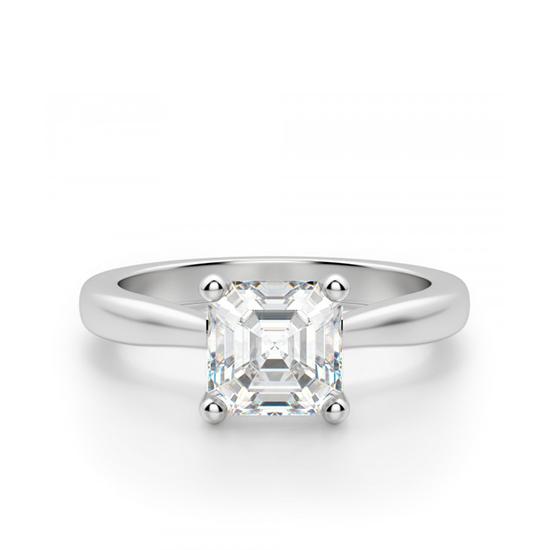 Кольцо помолвочное с бриллиантом Ашер, Больше Изображение 1