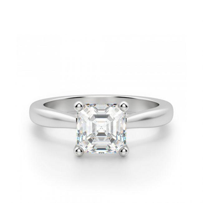 Кольцо помолвочное с бриллиантом Ашер