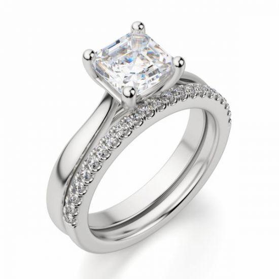 Кольцо помолвочное с бриллиантом Ашер,  Больше Изображение 4