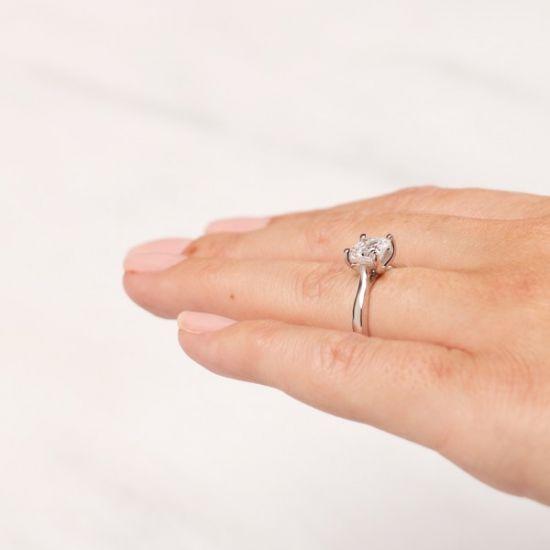Кольцо помолвочное с бриллиантом Ашер,  Больше Изображение 6