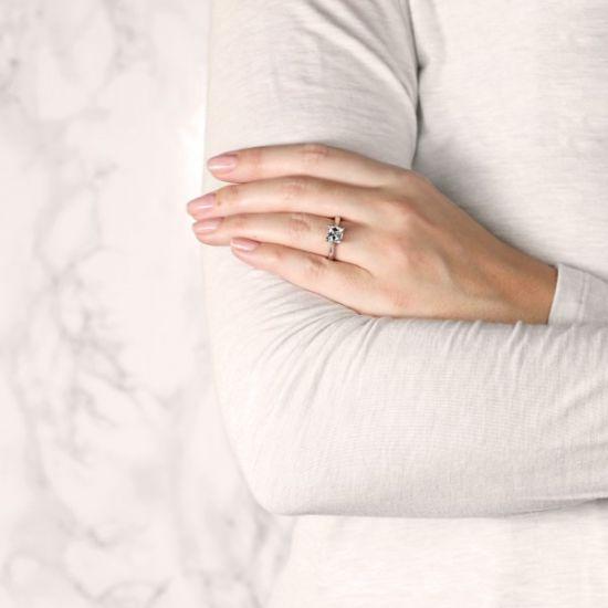 Кольцо помолвочное с бриллиантом Ашер,  Больше Изображение 7