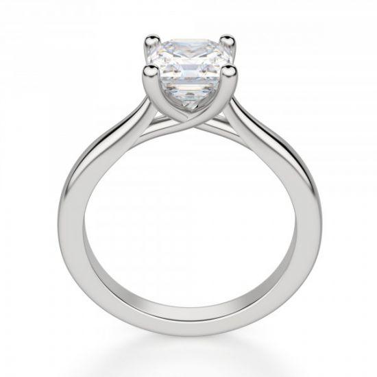 Кольцо помолвочное с бриллиантом Ашер,  Больше Изображение 2