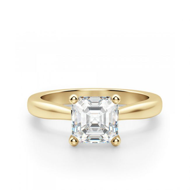 Кольцо золотое с бриллиантом Ашер