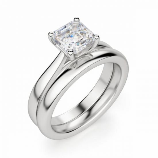Кольцо помолвочное с бриллиантом Ашер,  Больше Изображение 5