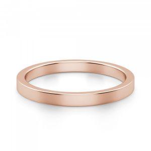 Золотое кольцо простое 3 мм